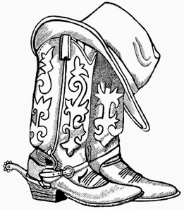 A cowboy christmas boot cowboy boots clip art and cowboys image 3.