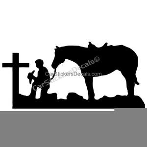 Cowboy Praying Clipart.