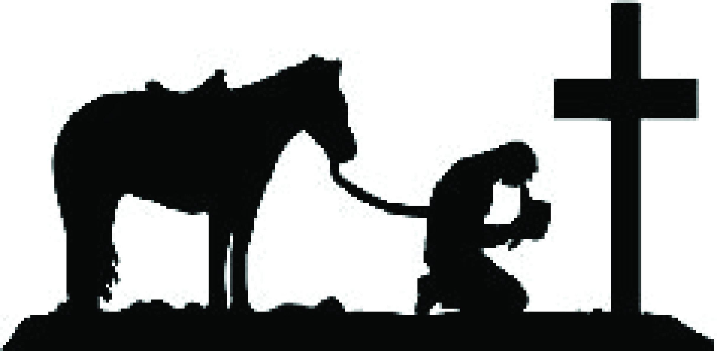 Praying cowboy clipart.
