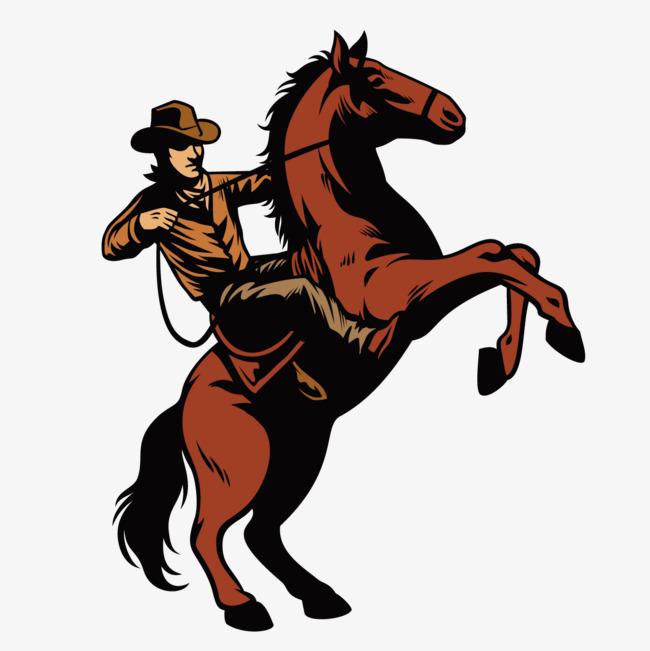 Cowboy riding horse clipart 6 » Clipart Station.