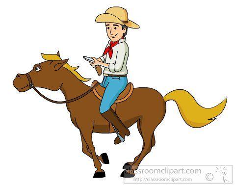 7321 Cowboy free clipart.