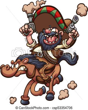 Mexican cowboy riding horse.