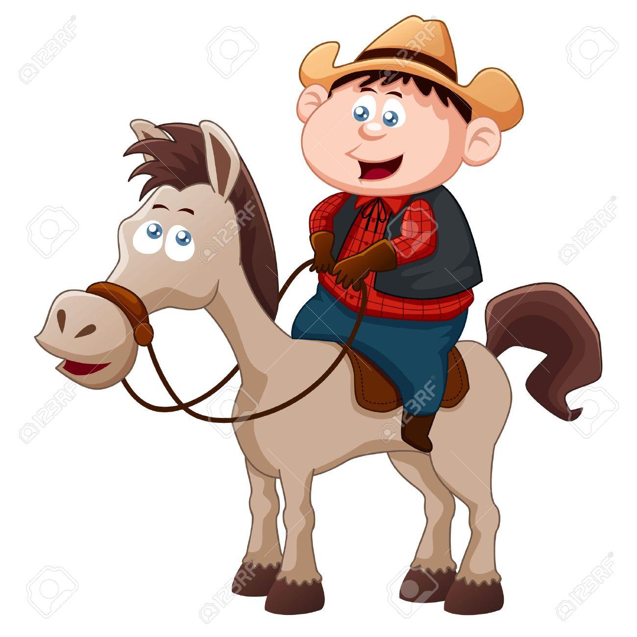 Little Cowboy riding horse.