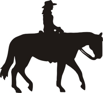 Western Horse Riding Clipart cowboy riding h...
