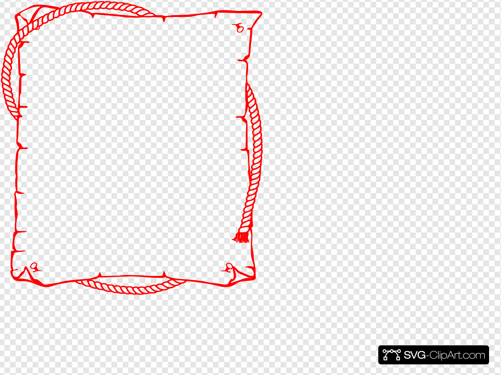 Cowboy Rope Border Clip art, Icon and SVG.