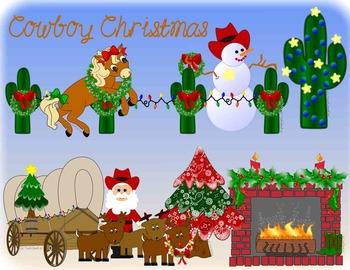 Cowboy Christmas Clip Art Western.