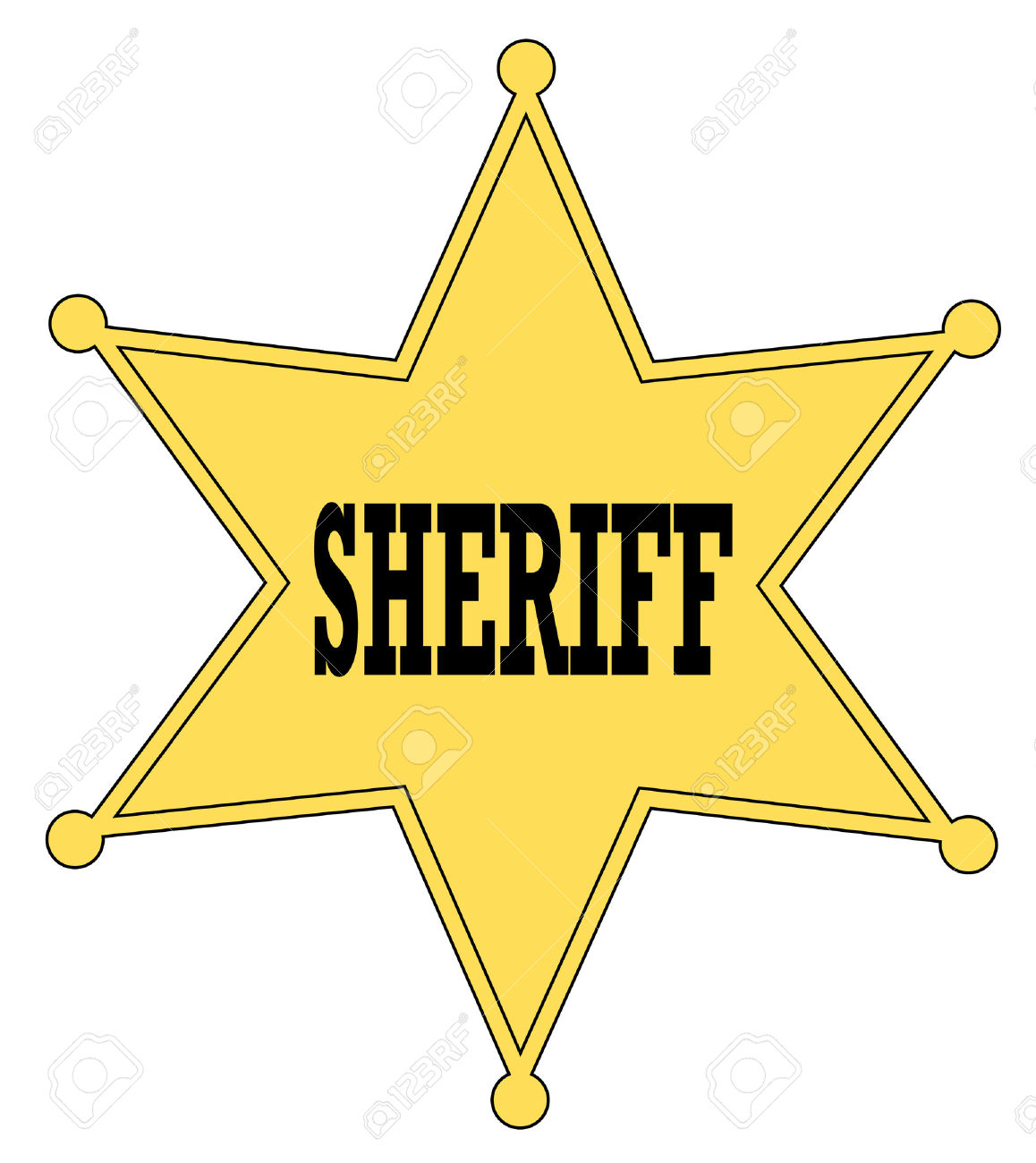 169 Sheriff Badge free clipart.