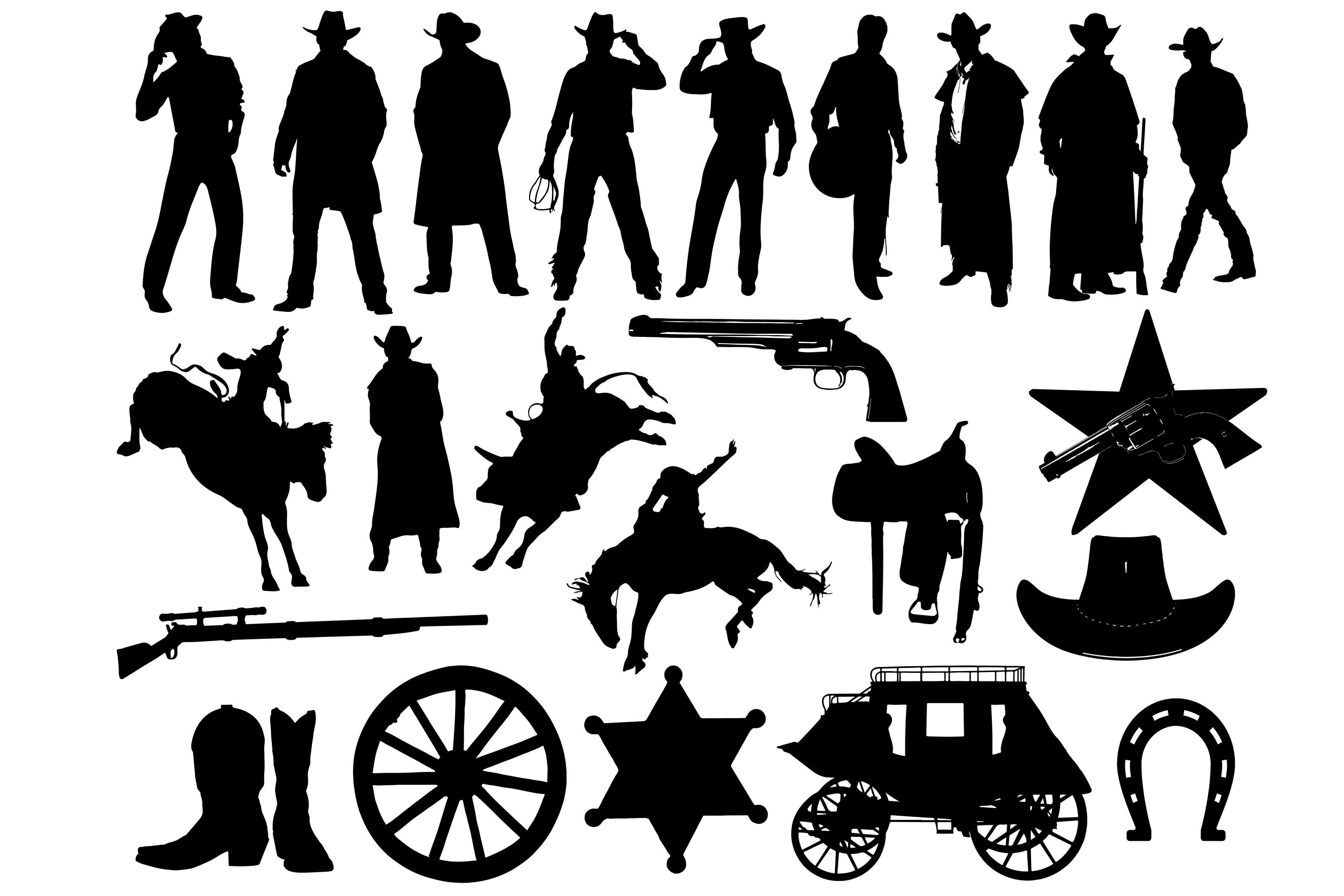 Cowboy Silhouette, Cowboy Clip Art, Cowboy illustration, Cowboy SVG, Rodeo  svg, Cowboy cut file, Cowboy cricut, Cowboy vector wild west svg.