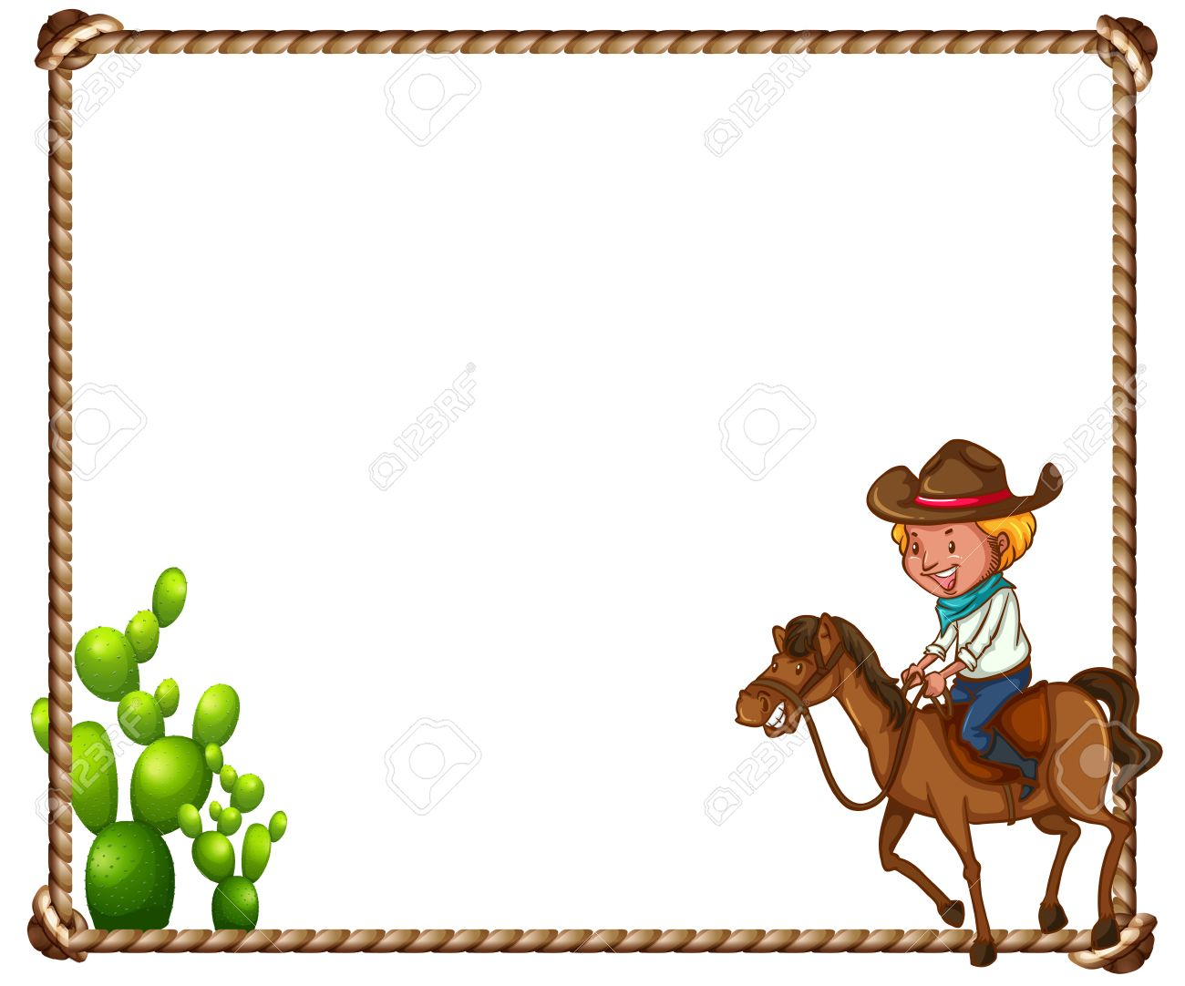 Rope and cowboy theme frame.