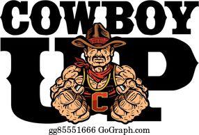 Cowboy Up Clip Art.