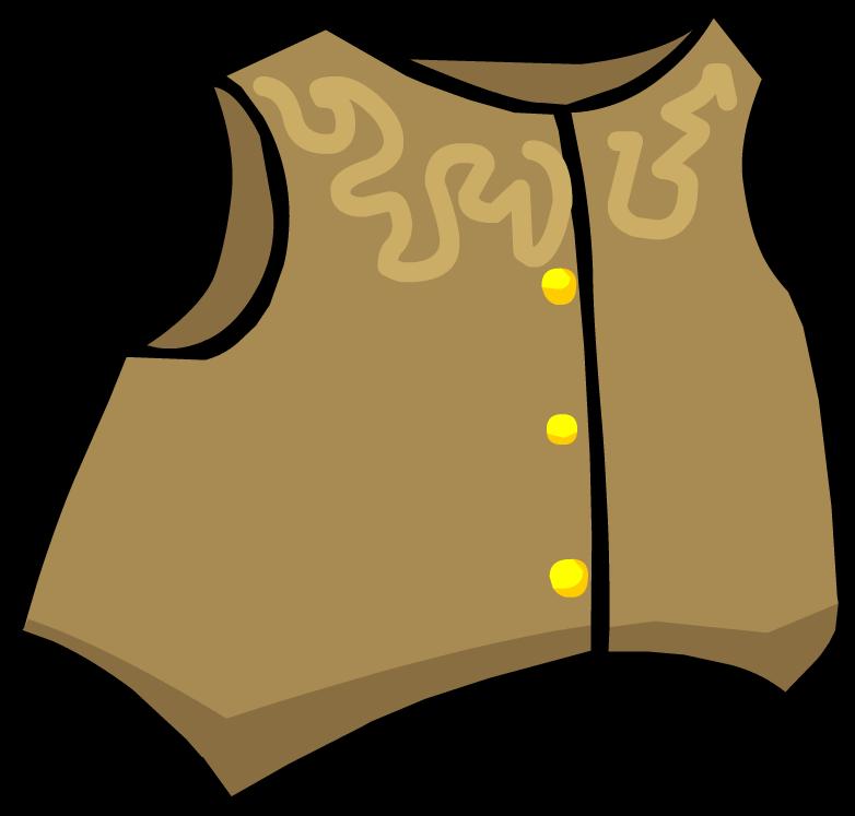 Cowboy Vest Clipart.