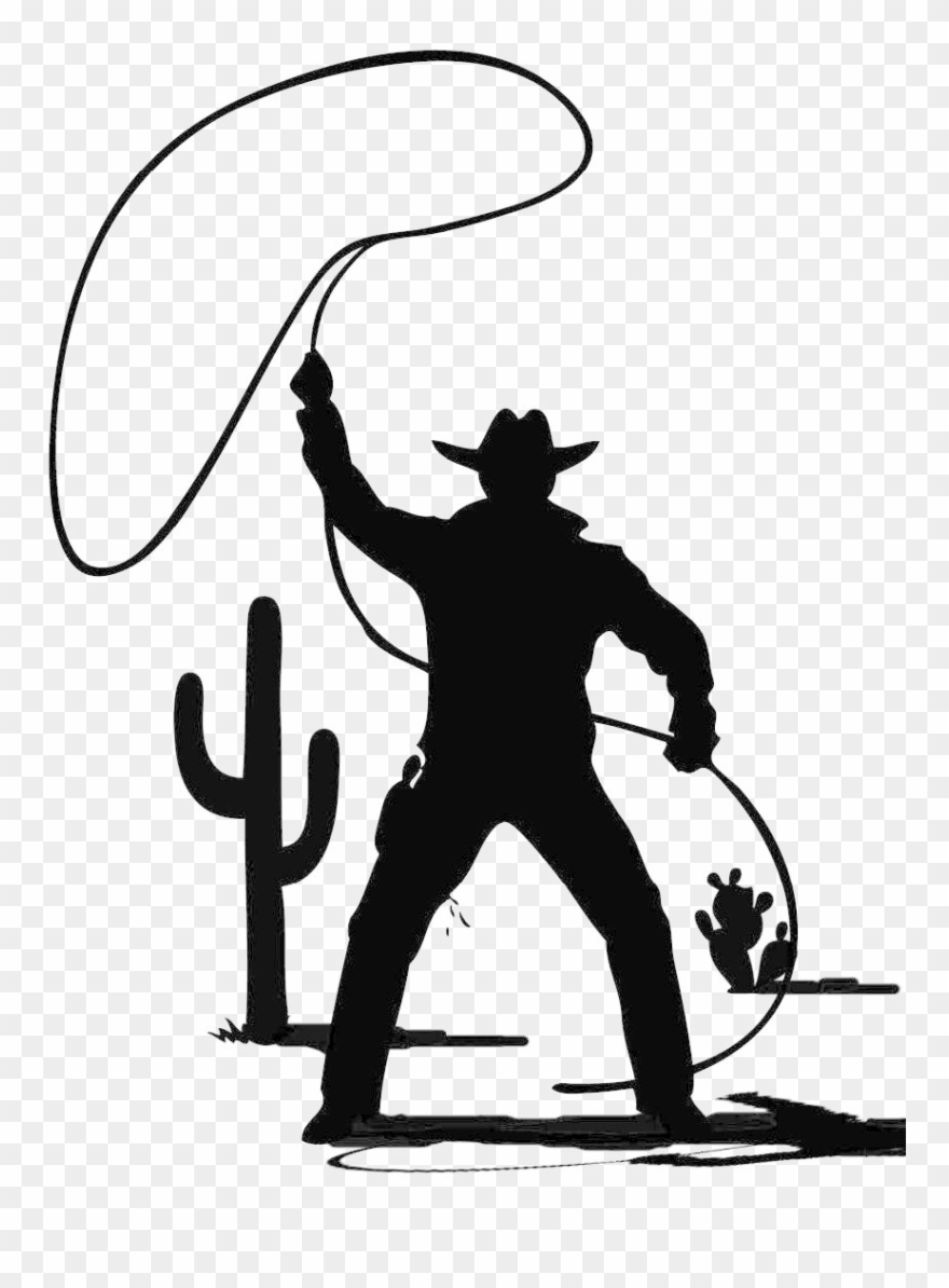 Lasso Cowboy Clipart (#1348944).