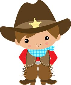 Cartoon cowboys clipart.