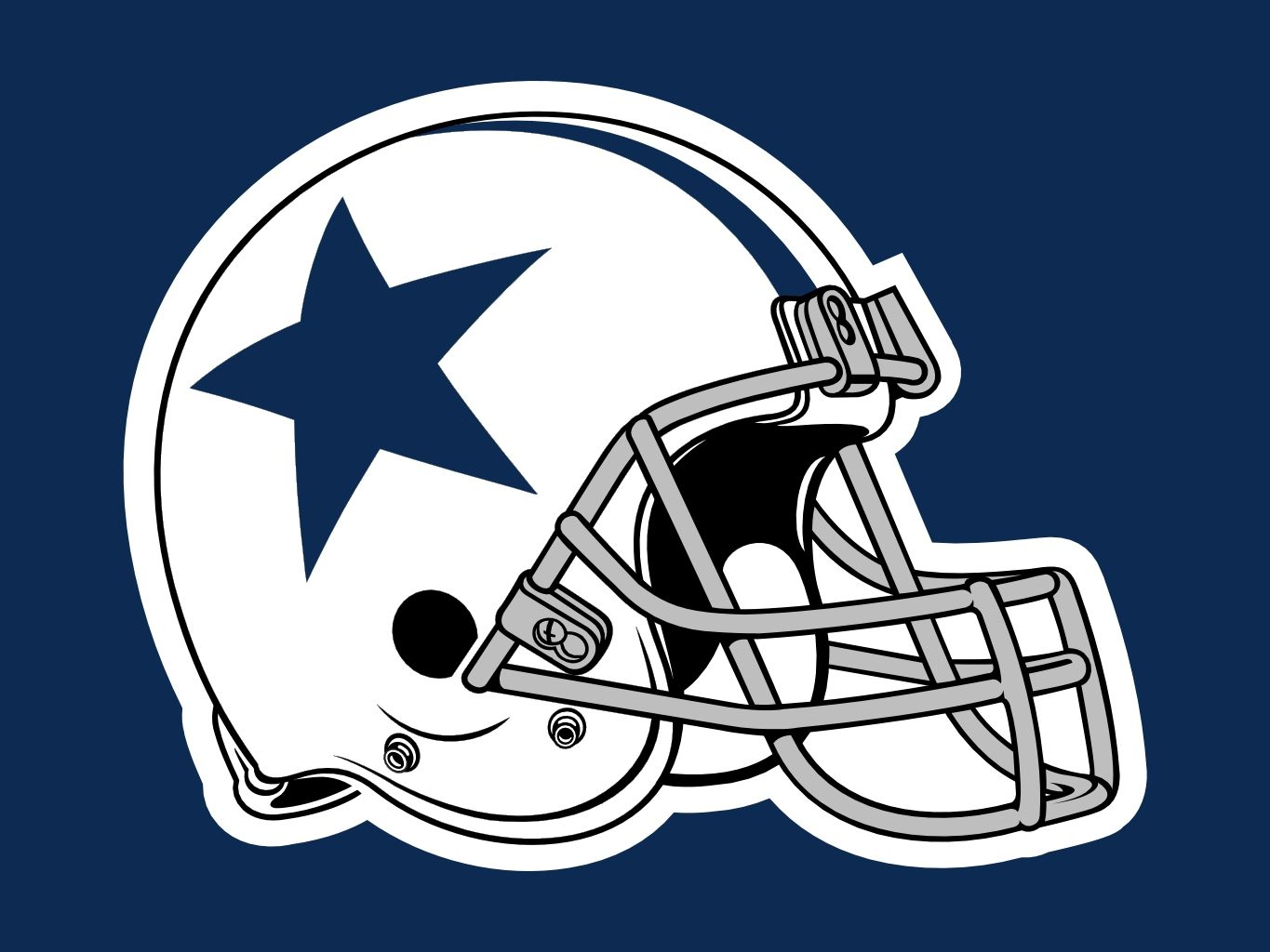 old cowboys helmet.