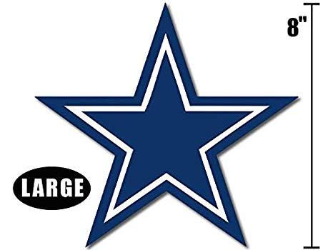 American Vinyl Large 8 Inch Blue Star Dallas Cowboys Colors Sticker (Logo  Big dak Fan ROMO).