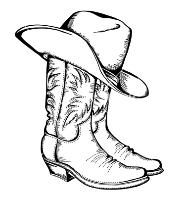 Free Cowboy hat outline.