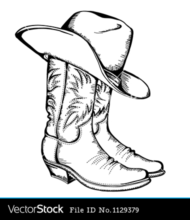 Cowgirl Boot Clipart Outline Clipground
