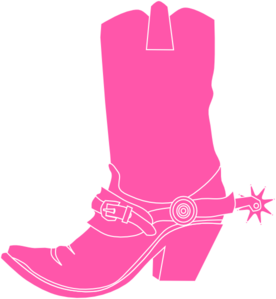 Pink Cowgirl Clip Art.