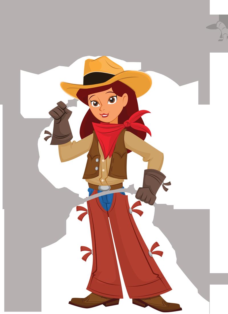 cowgirl lasso clipart