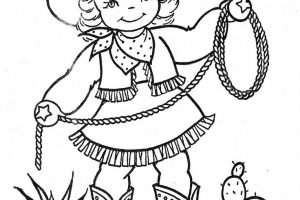 Cowgirl clipart black and white 3 » Clipart Station.