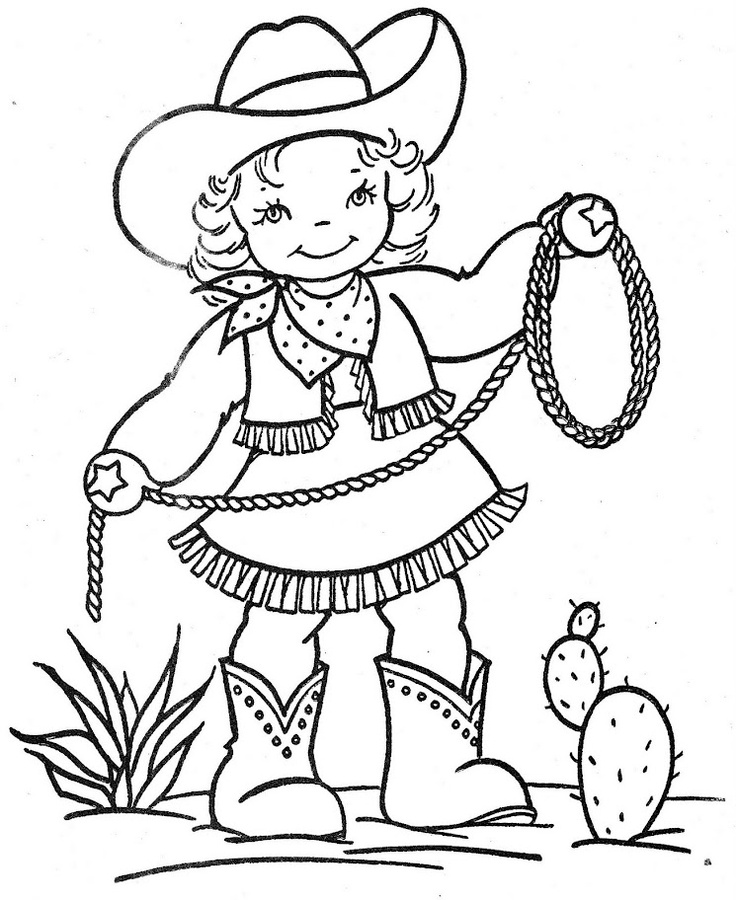Cowgirl clipart black and white 4 » Clipart Station.