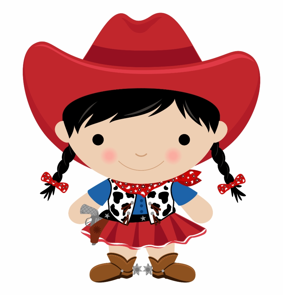 Baby Girl Clipart Cowgirl.