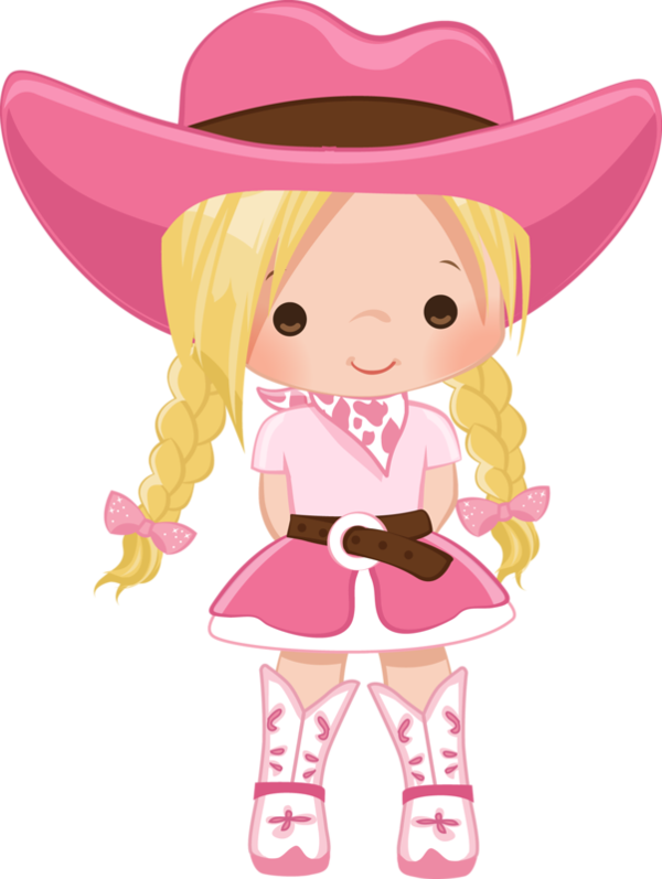Cowgirl clipart pink, Cowgirl pink Transparent FREE for.