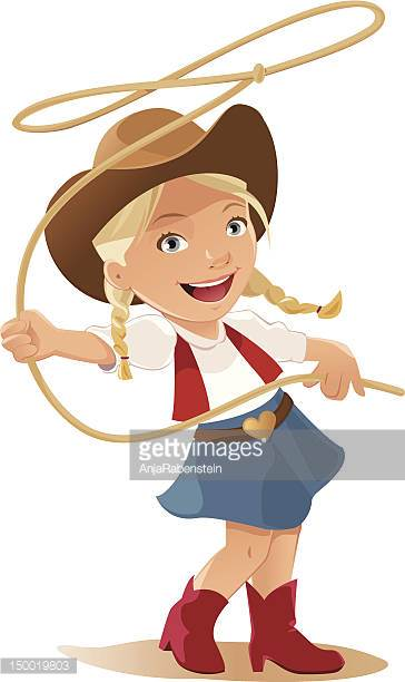 Cowgirl Lasso Frame Vector Art.