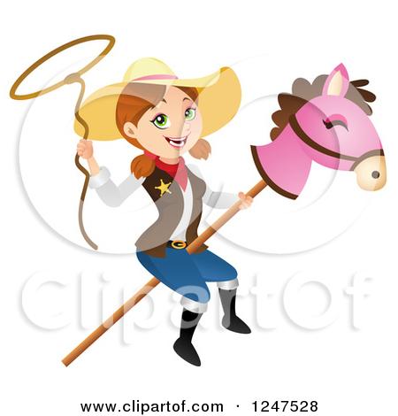 Cowgirl Lasso Clipart.