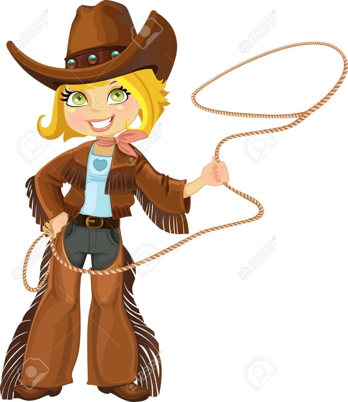 cowgirl lasso clipart #4