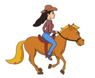 Cowgirl galloping on a horse clipart » Clipart Station.
