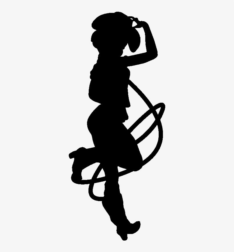 Sticker Silhouette Cowgirl.