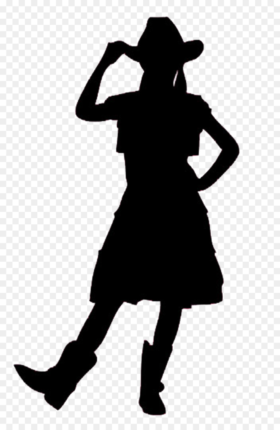 Download Free png Silhouette Cowboy Woman on top Clip art cowgirl.