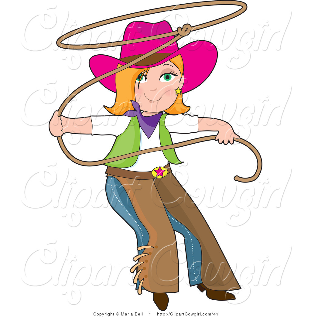 Clipart cowgirl.