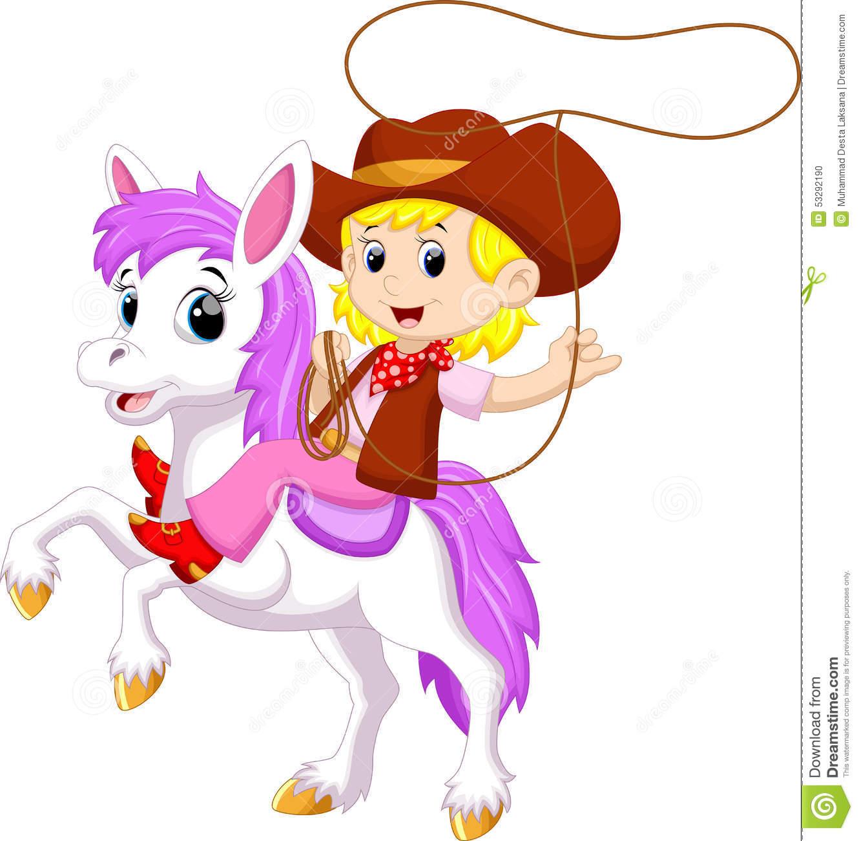 Cartoon Cowgirl Stock Illustrations.