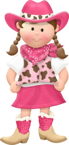 Cowgirl clipart for kids.