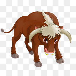 Longhorn Cow, Hand Painted, Brown, Poult #33077.