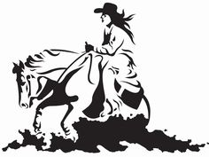 Reined Cow Horse Clipart.