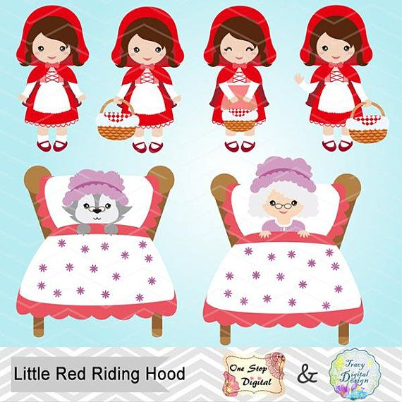 Little Red Riding Hood Digital Clip Art Little Red Riding.