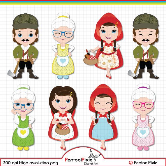Little Red Riding Hood Clipart Little Red Clipart Red Riding.
