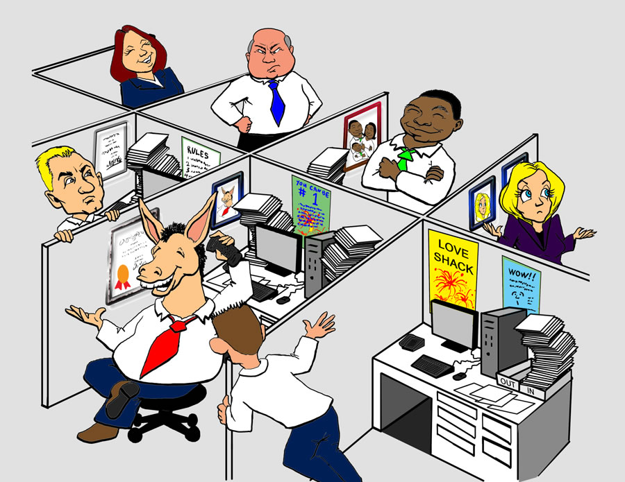 Smiling colleagues Vector Clip Art Royalty Free. 1,491.