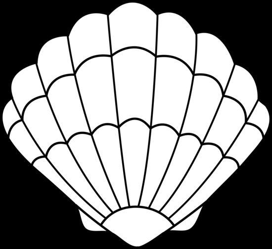 Seashell Clipart Black And White.
