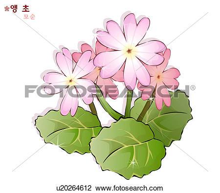 Clip Art of flowers, nature, plants, cowslip, plant, bloom, flower.