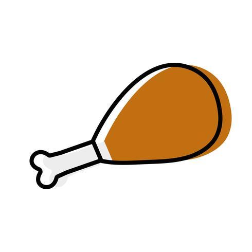 chicken thigh roast resh food.
