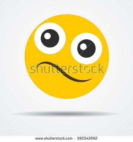 Shy Emoticon Stock Vector 97876985.