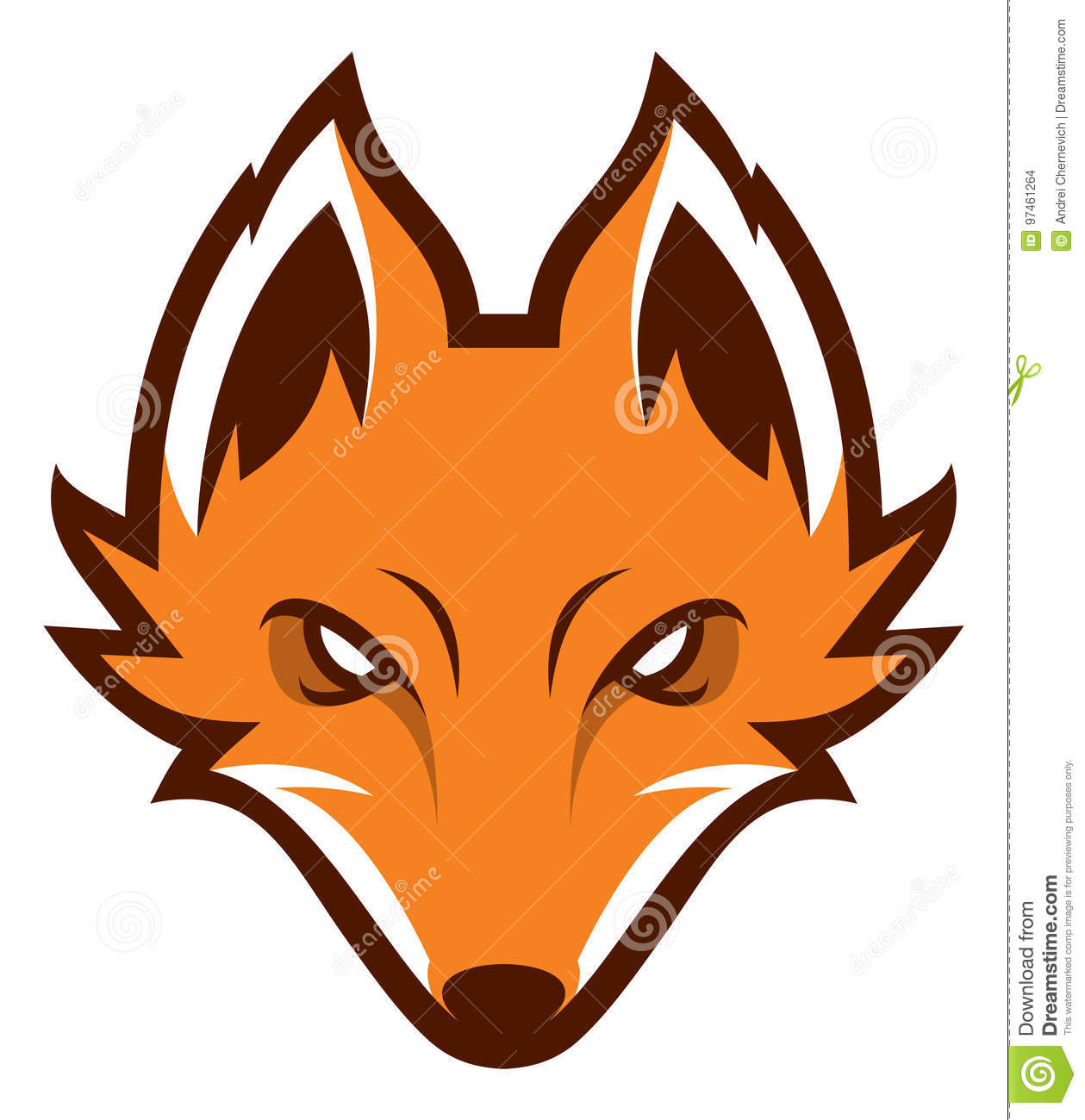 Fox Head Sport Logotype. Mascot. Stock Vector.