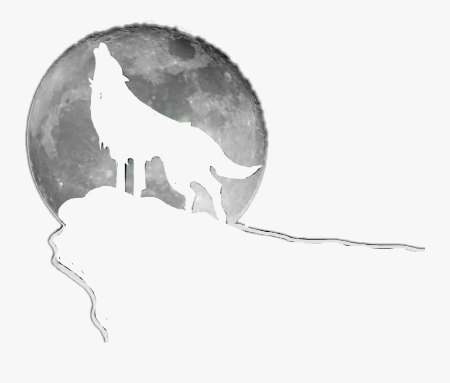 Transparent Coyote Howling At The Moon Clipart.
