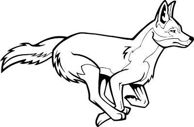 Coyote mascot clipart.