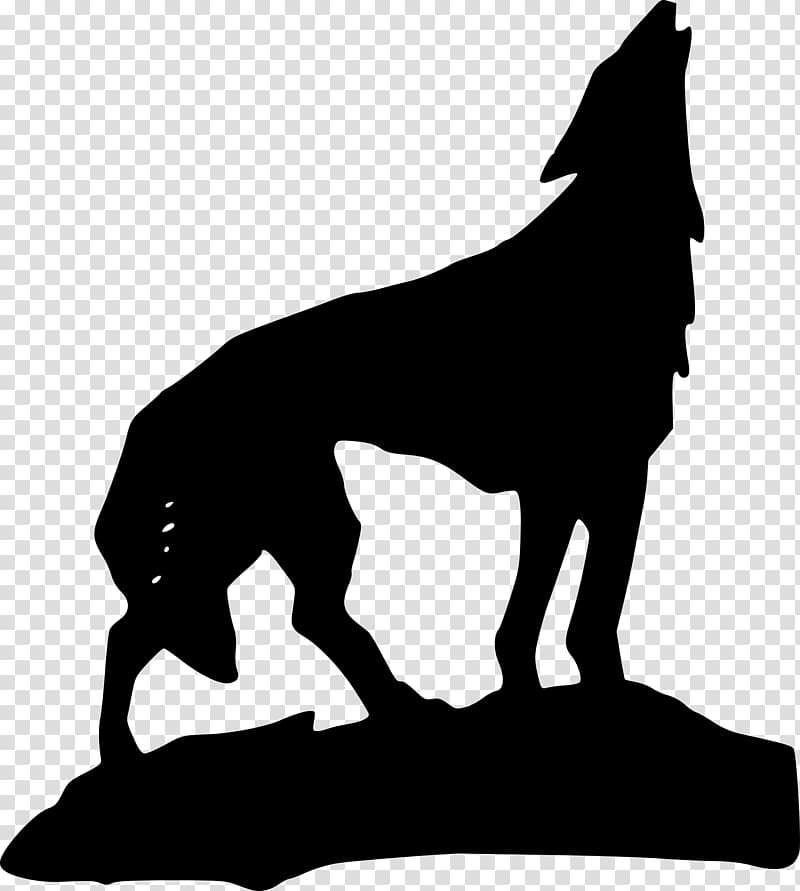 Dog Aullido howl , animal silhouettes transparent background.