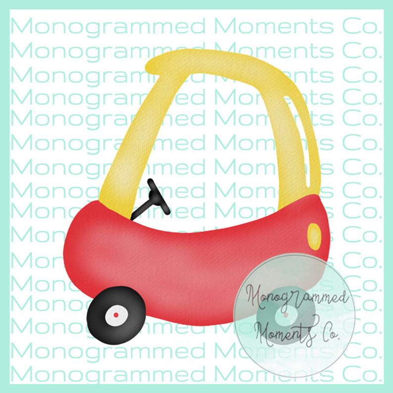 Cozy Coupe Watercolor Clipart Little Tikes Coupe PNG Digital Download  Printable Artwork Design Toddler Boy and Girl Designs.